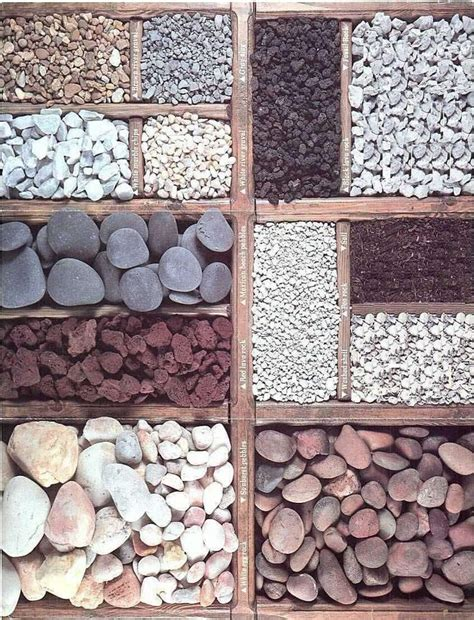 garden designs with stones types of stone mulch gardening landscaping i pinterest different types of stones and