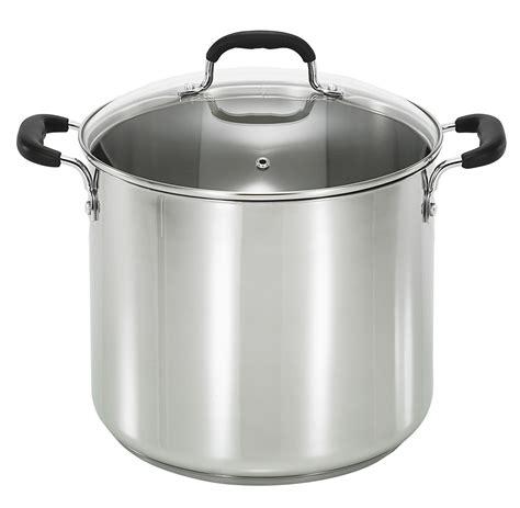pots cuisine t fal c8888164 12 quart stainless steel stock pot home