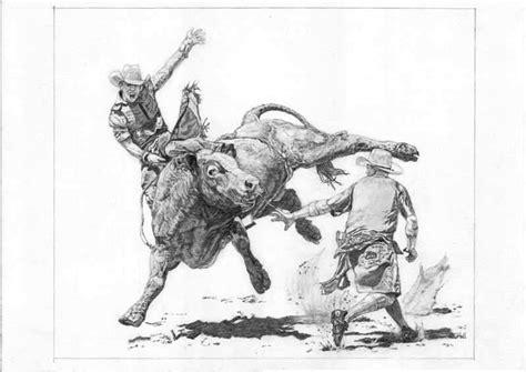 Bull Riding Drawings