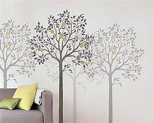 Free tree stencil patterns large tree stencil wall for Large tree template for wall