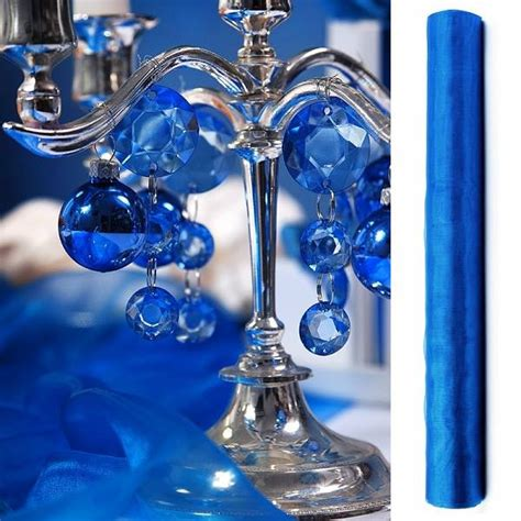 chemin de table mariage organza chemin de table mariage organza bleu roi decoration