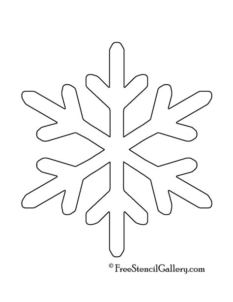 free snowflake template snowflake stencil 11 free stencil gallery