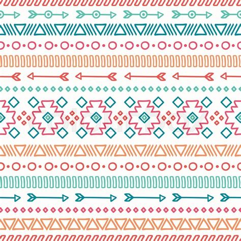 hand drawn geometric ethnic seamless pattern wrapping paper scrapbook paper doodles style
