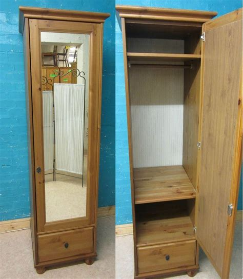 Ikea Armoire With Mirror by Ikea Leksvik Solid Pine Wood Single 1 Door Mirrored
