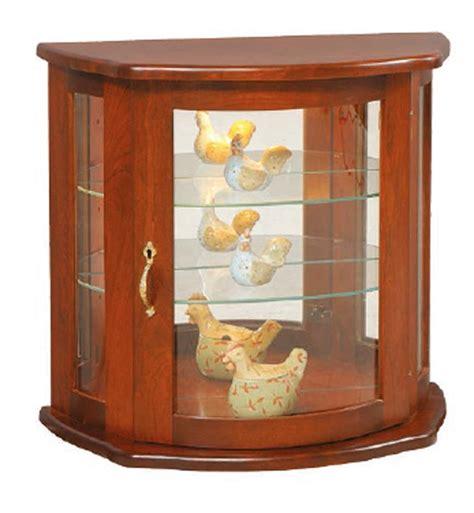 wall curio cabinet amish flat wall curio cabinet