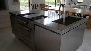Ilot central avec evier et plaque de cuisson maison for Ilot central cuisine avec evier