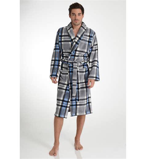 robe de chambre homme arthur robe de chambre longue molletonnée à carreaux arthur en