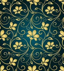 Patterns Black and Gold Swirls