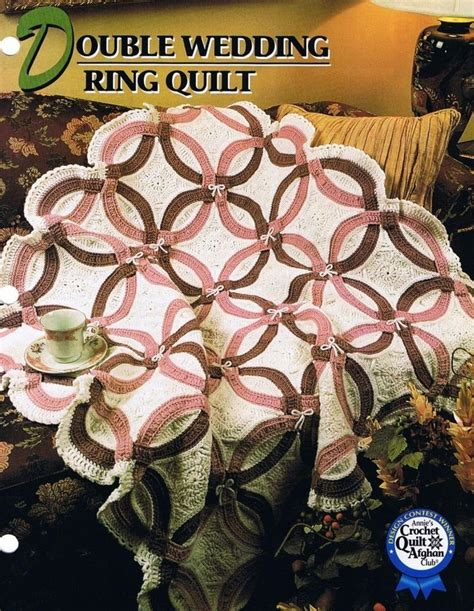 double wedding ring quilt annie s attic crochet afghan