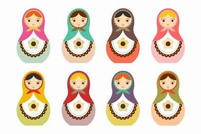 Clipart Matryoshka Clip Doll Russian Cliparts Dolls