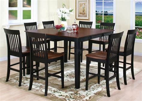 Two Tone Finish 5Pc Modern Counter Height Dining Set w/Options