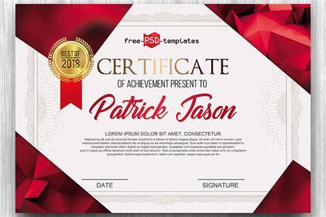 certificate psd template designhooks