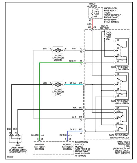 2001 Buick Park Avenue Wiring Diagram by Cooling Fans Wont Come On I A 2000 Buick Park Avenue