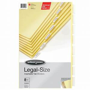 wilson jones binder accessories insertable dividers With templates wilson jones 8 tabs
