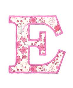 Pink Letter E