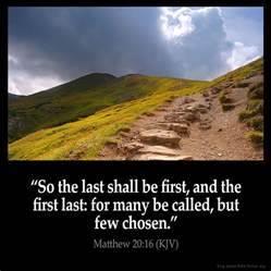 Matthew 20:16 Inspirational Image