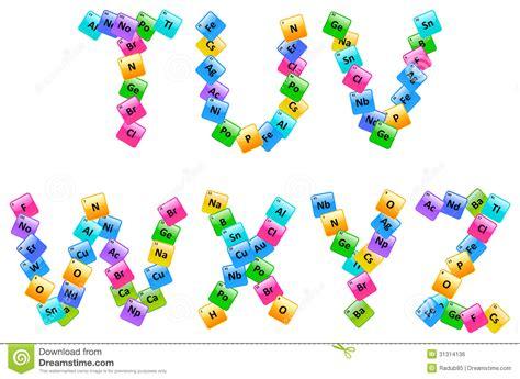 tabla peri 243 dica de letras alfabeto de los elementos ilustraci 243 n vector ilustraci 243 n de