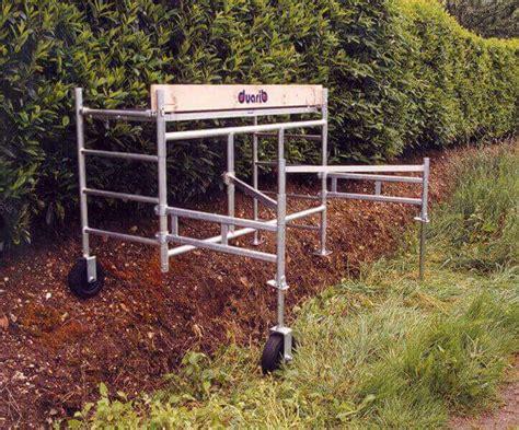 echafaudage de jardin pour paysagiste