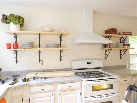 kitchen wall shelf diy wall shelves for more organized interior