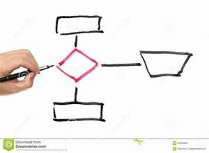 Workflow Diagram Stock Illustration  Illustration Of Fingers