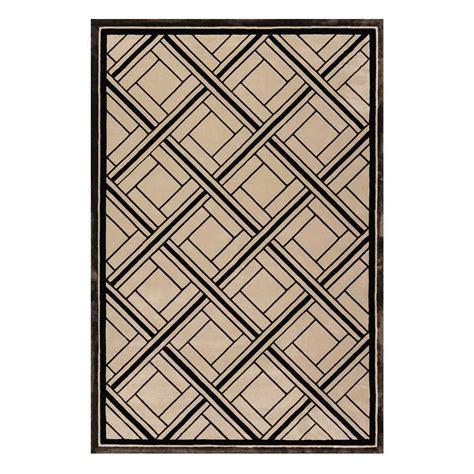 tapis beige et noir en viscose rectangulaire 224 motifs