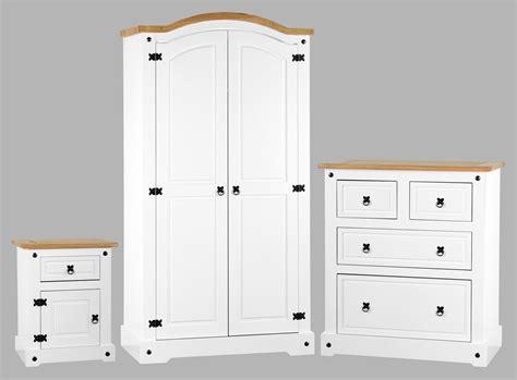 corona white distressed pine bedroom set one stop