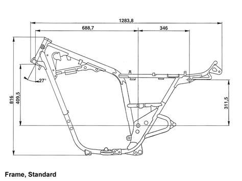 Yamaha Xs650 1974-79 Standard Frame Size