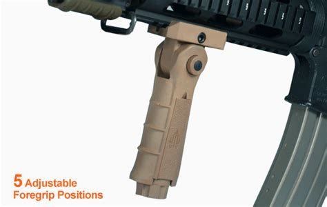 Utg Ambidextrous Vertical 5-position Foldable Foregrip