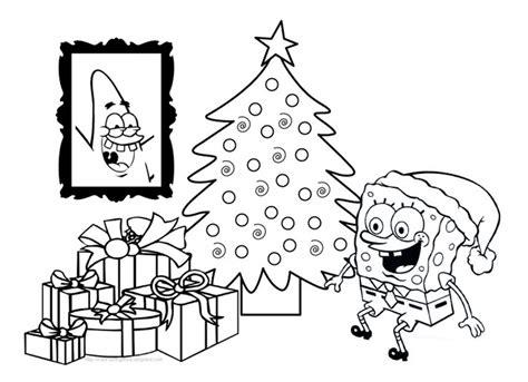 Spongebob Squarepants Christmas Coloring Pages - Sanfranciscolife