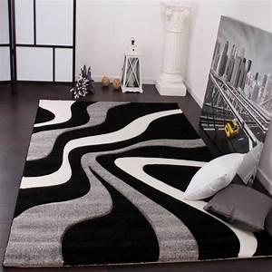 tapis de salon noir et blanc achat vente tapis de With tapis de salon blanc