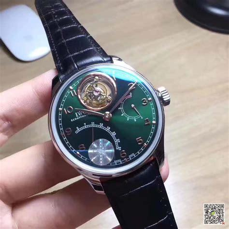 iwc portuguese tourbillon yl factory green dial replica   quality replica watches uk