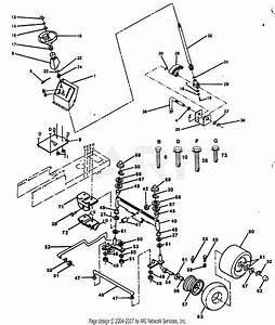 Poulan Pp1238 Tractor Parts Diagram For Steering And Front Axle