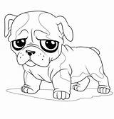 Pug Coloring Pages Sad Bulldog Face Puppy Cute Drawing Colouring Print Little Animal Dog Outline Drawings Printable Cartoon Sheets Getdrawings sketch template