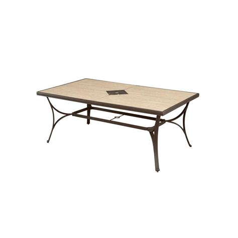hton bay pembrey rectangular patio dining table hd14215