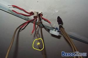 Comment Installer Un Lustre : demande d 39 aide pour brancher lustre 2fils plafond ~ Dailycaller-alerts.com Idées de Décoration
