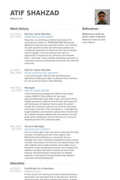 kitchen resume sles visualcv resume sles database