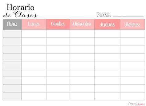 Horario+de+Clases+Clr png (1460×1064) cole Pinterest