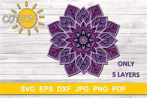 3d mandalas, as well as regular mandalas, are popular lately. Mandala SVG | 3D Layered Mandala SVG cut file 5 layers ...