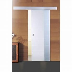 porte coulissante verre trempe floride artens 204 x 83 cm With porte de garage enroulable avec porte en verre coulissante