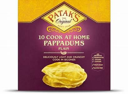 Pappadums Plain Cook Eat Pataks Patak Curry