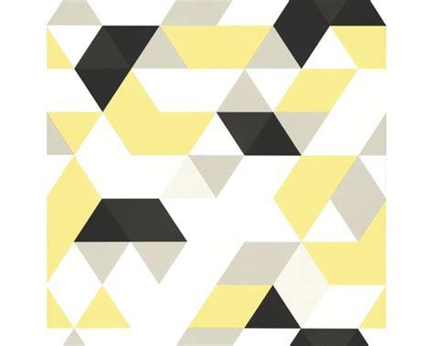 tapisserie intiss 233 e triangle jaune gris acheter sur