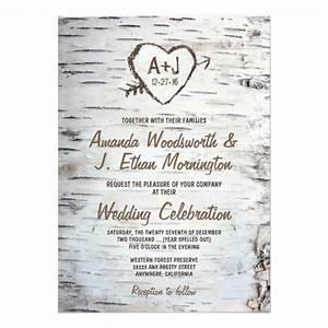 country rustic birch tree bark wedding invitations zazzle With wedding invitations with birch trees