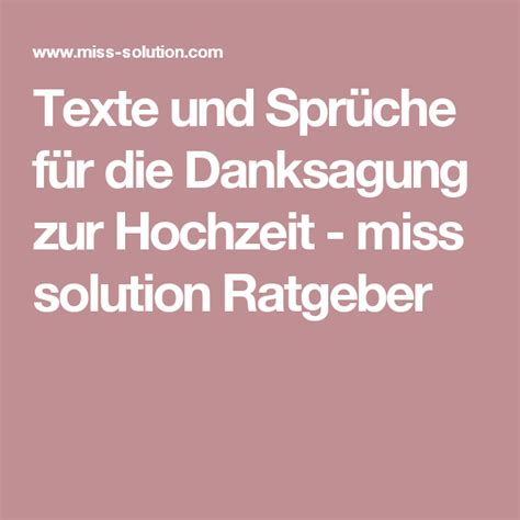 texte und sprueche fuer die danksagung zur hochzeit