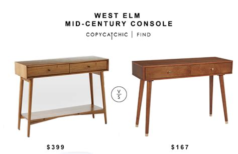 west elm mid century table west elm mid century console copycatchic