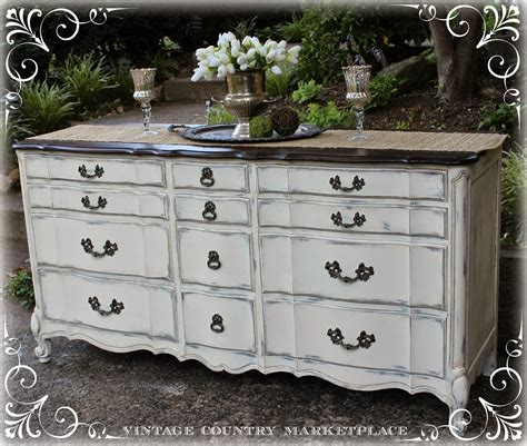 Vintage Country Style French Provincial Dresser Annie