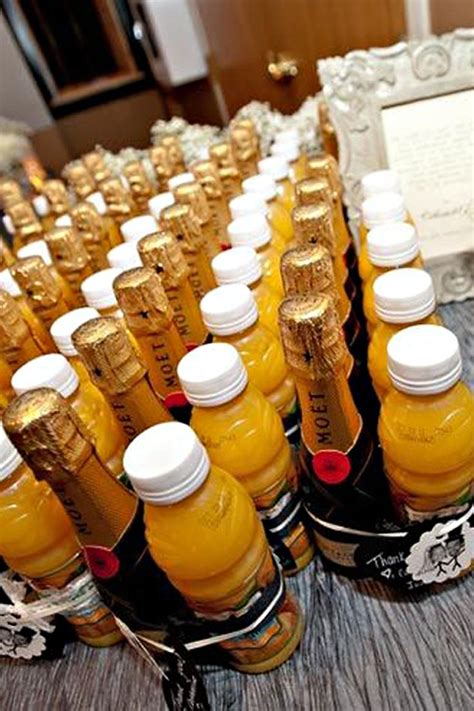 Orange Juice And Champagne Wedding Favors Wedding Favors