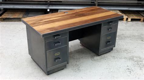 desk with drawers on left the tanker desk industrial metal furniture steel vintage