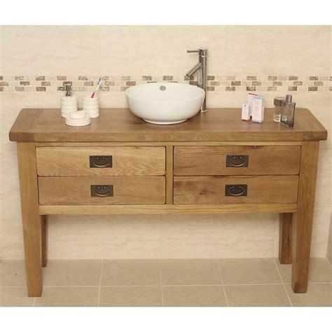 Rustic Bathroom Vanity Units by Valencia Rustic Oak Bathroom Vanity Unit Click Oak