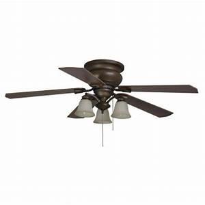Hampton bay eastvale in berre walnut ceiling fan