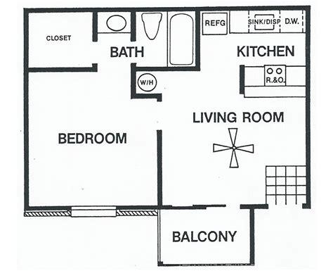 single home plans floor plans one bedroom plan a sundance apartments